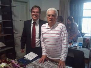 Luciano Delgado com Desembargador Gama Pellegri