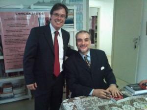 Luciano Delgado com Prof. Eduardo Salles Pimenta